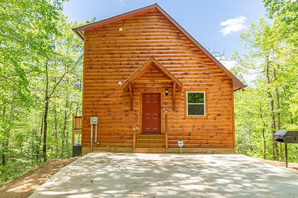 Exterior of Relaxation Ridge, a 2 bedroom cabin rental located in Pigeon Forge