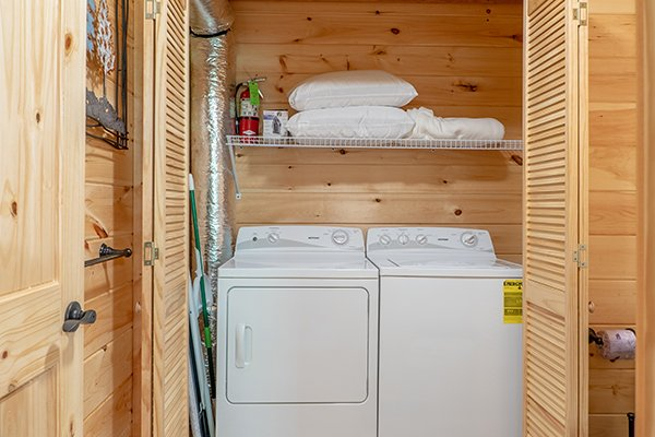 Laundry room at Relaxation Ridge, a 2 bedroom cabin rental located in Pigeon Forge