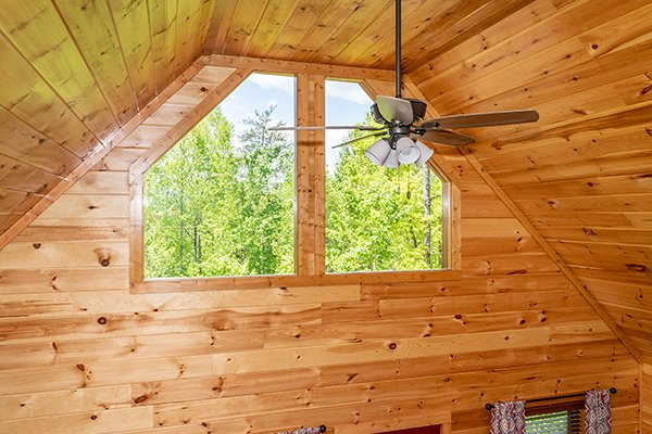 High ceiling at Relaxation Ridge, a 2 bedroom cabin rental located in Pigeon Forge