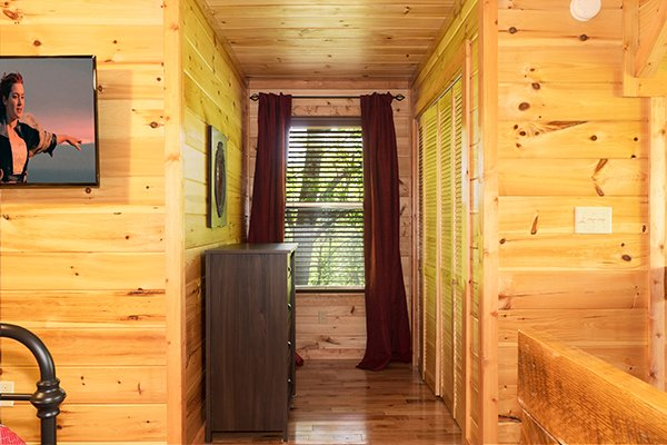 Bedroom nook at Relaxation Ridge, a 2 bedroom cabin rental located in Pigeon Forge