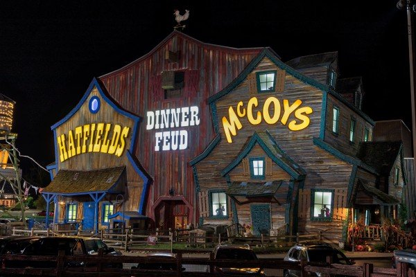 Hatfield & McCoy Dinner Show is near Yes, Deer, a 2 bedroom cabin rental located in Pigeon Forge