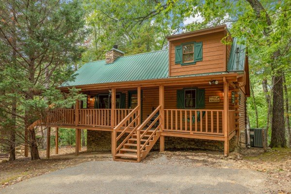 Yes, Deer, a 2 bedroom cabin rental located in Pigeon Forge