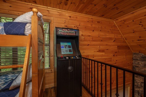 Video game at Time to Pause, a 2 bedroom cabin rental located in Pigeon Forge