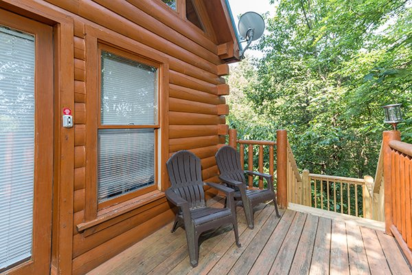 Front porch at My Blue Heaven, a 1 bedroom cabin rental located in Gatlinburg