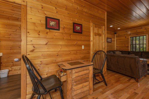 Multigame arcade at Bear O'clock Somewhere, a 5 bedroom cabin rental located in Pigeon Forge