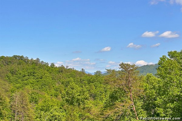 Treetop view at Picture Perfect Hideaway, a 2 bedroom cabin rental located in Pigeon Forge