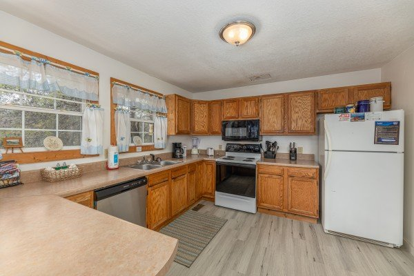 Kitchen at Bear it All, a 2 bedroom cabin rental located in Sevierville