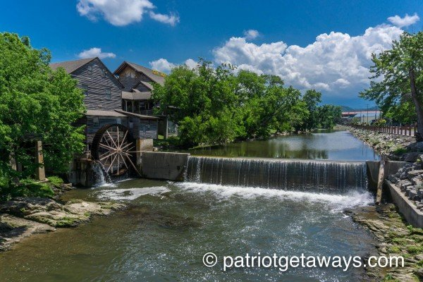 The Old Mill in Pigeon Forge is near Great View Lodge, a 5-bedroom cabin rental located in Pigeon Forge