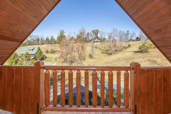 View from the upper deck at A Beary Nice Cabin, a 2 bedroom cabin rental located in Pigeon Forge
