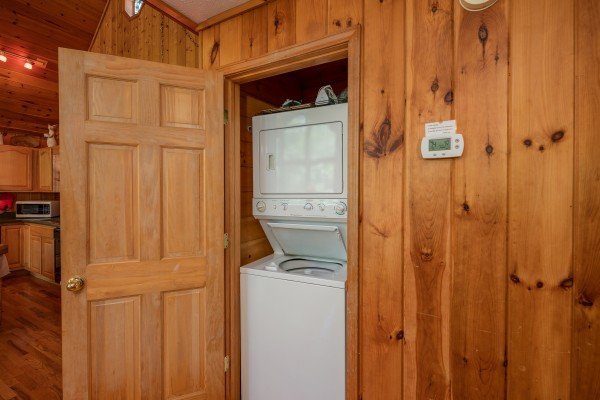 Laundry room at Hello Dolly, a 1 bedroom cabin rental located in Pigeon Forge