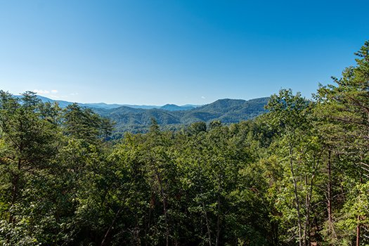 Mountain views at Canyon Camp Falls, a 2-bedroom cabin rental located in Pigeon Forge