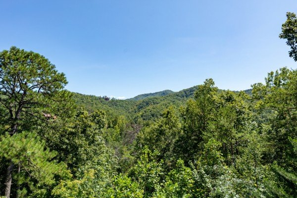 Mountain view at The Great Outdoors, a 3 bedroom cabin rental located in Pigeon Forge