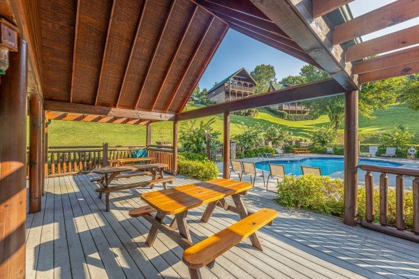 Pavilion for guests at Family Getaway, a 4 bedroom cabin rental located in Pigeon Forge