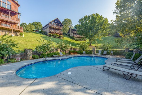 Pool access for guests at Family Getaway, a 4 bedroom cabin rental located in Pigeon Forge