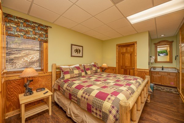 Bedroom at Southern Charm, a 2 bedroom cabin rental located in Pigeon Forge