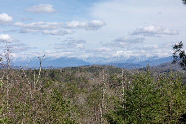 Winter month views at Blue Mountain Views, a 1 bedroom cabin rental located in  Pigeon Forge