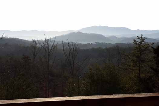 The Smoky Mountain views at Blue Mountain Views, a 1-bedroom cabin rental located in Pigeon Forge
