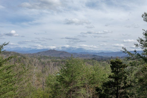 Winter views at Blue Mountain Views, a 1 bedroom cabin rental located in  Pigeon Forge