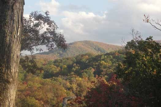 Amazing mountain view at Tranquil View, a 1 bedroom cabin rental located in Gatlinburg