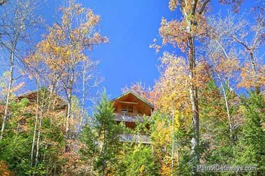 Lower back exterior view at Tranquil View, a 1 bedroom cabin rental located in Gatlinburg