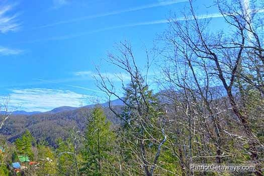 View of the Smoky Mountains at Tranquil View, a 1 bedroom cabin rental located in Gatlinburg