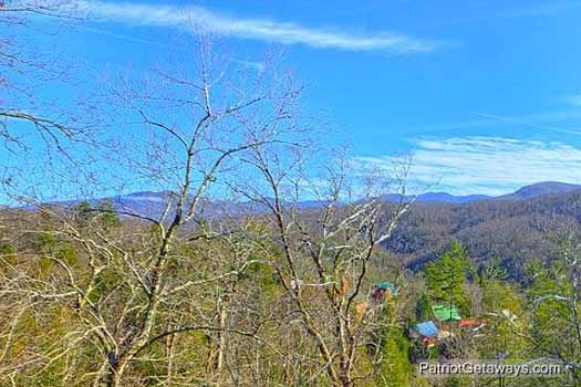 view of valley at tranquil view a 1 bedroom cabin rental located in gatlinburg