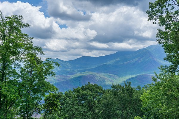 Incredible Smoky Mountain view at Castle on the Hill, a 2-bedroom cabin rental located in Gatlinburg