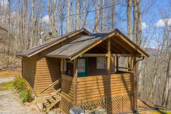 Cabin exterior at Hideaway, a 1 bedroom cabin rental located in Pigeon Forge