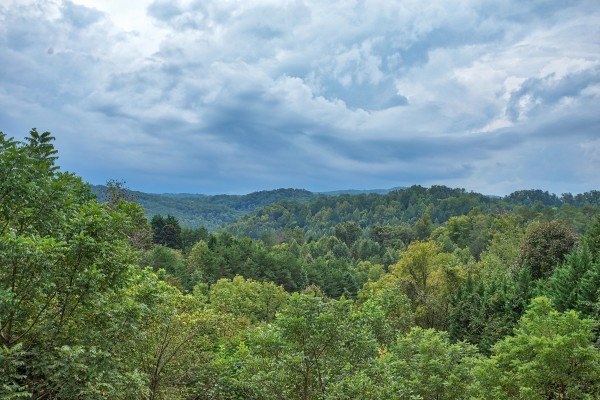 Mountain views at Paradise View, a 1 bedroom cabin rental located in Pigeon Forge