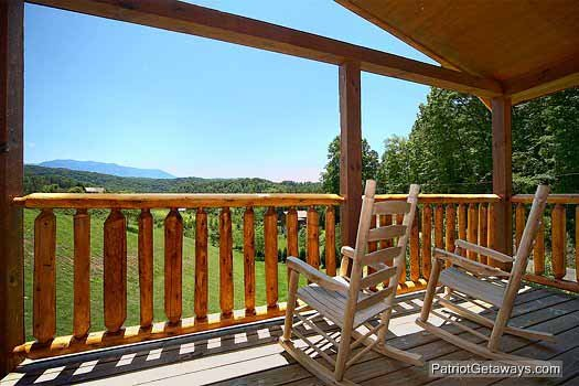 View of the Smoky Mountains at Paradise View, a 1 bedroom cabin rental located in Pigeon Forge