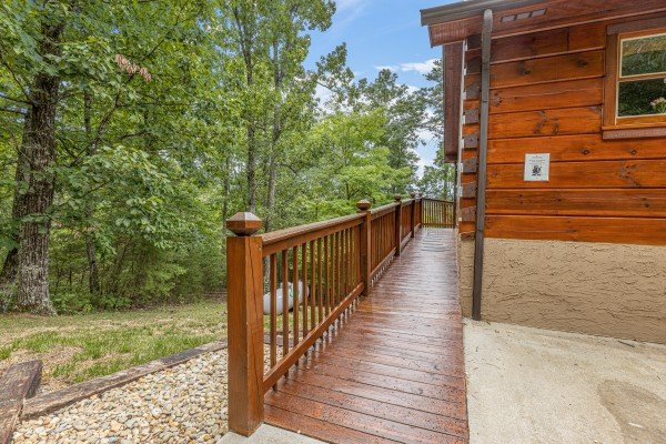 Deck at Wildlife Retreat, a 3 bedroom cabin rental located in Pigeon Forge