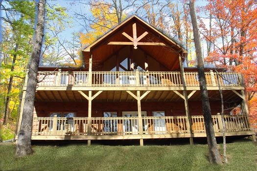 Exterior view at Wildlife Retreat, a 3 bedroom cabin rental located in Pigeon Forge
