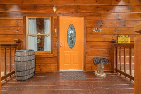 Front door at Wildlife Retreat, a 3 bedroom cabin rental located in Pigeon Forge
