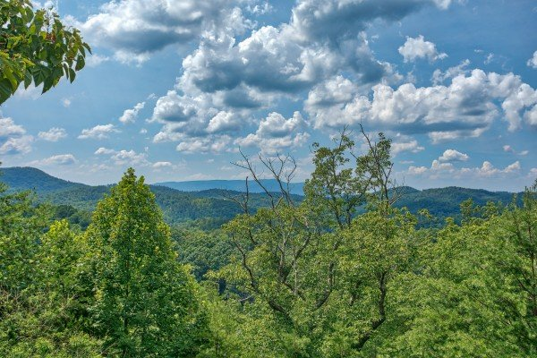 Mountain views at Cabin in the Clouds, a 3-bedroom cabin rental located in Pigeon Forge