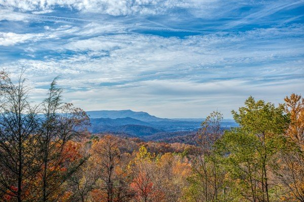 Panoramic mountain view at The Original American Dream, a 2 bedroom cabin rental located in Gatlinburg