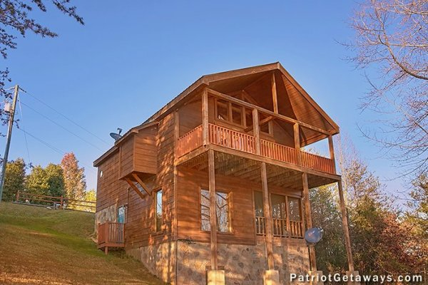 Rear exterior view at A Getaway with a View, a 2 bedroom cabin rental located in Pigeon Forge