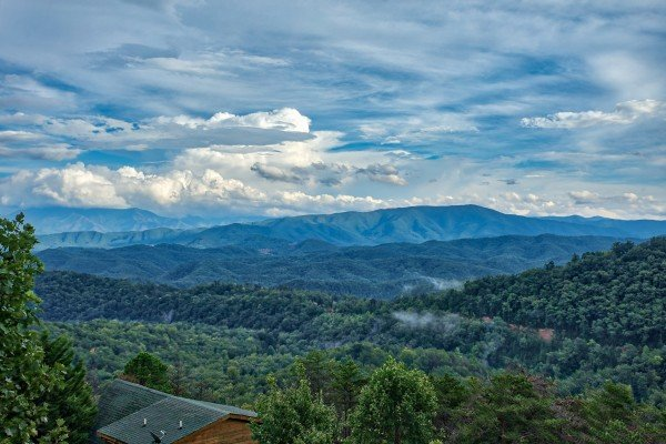 Smoky Mountain views at Knotty Nest, a 1 bedroom cabin rental located in Pigeon Forge