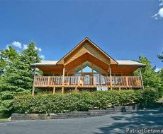 Exterior front view at Ridge View, a 1 bedroom cabin rental located in Pigeon Forge