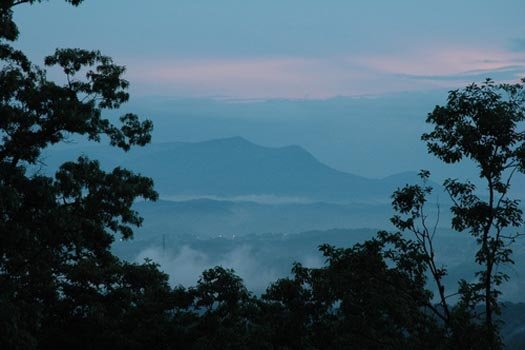 view of the smoky mountains at ridge view a 1 bedroom cabin rental located in pigeon forge