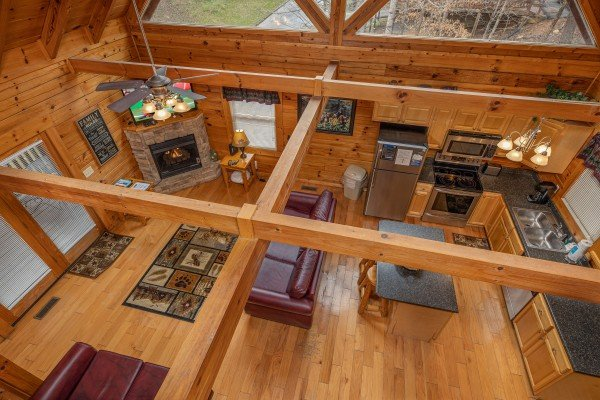 Aerial view at Alpine Tranquility, a 4 bedroom cabin rental located in Pigeon Forge