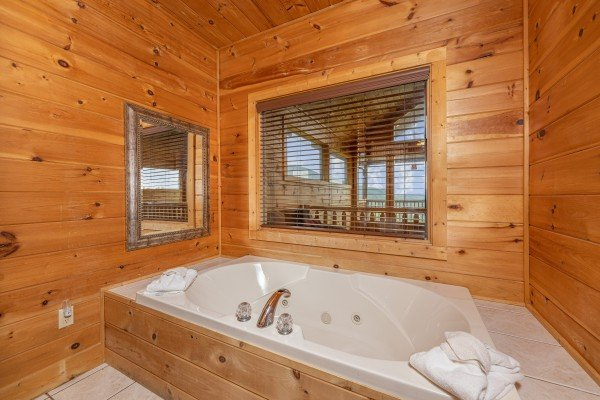 Jacuzzi tub at 1 Awesome View, a 3 bedroom cabin rental located in Pigeon Forge