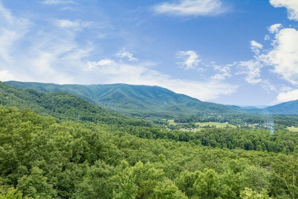 View from the upper deck at 1 Awesome View, a 3 bedroom cabin rental located in Pigeon Forge