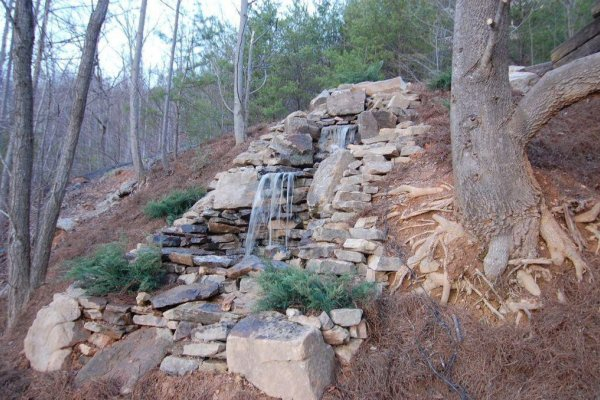 Water feature at 1 Awesome View, a 3 bedroom rental cabin in Pigeon Forge