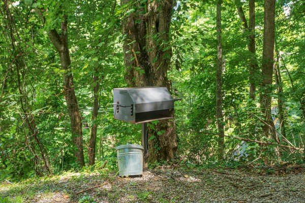 Charcoal grill at License to Chill, a 3 bedroom cabin rental located in Gatlinburg