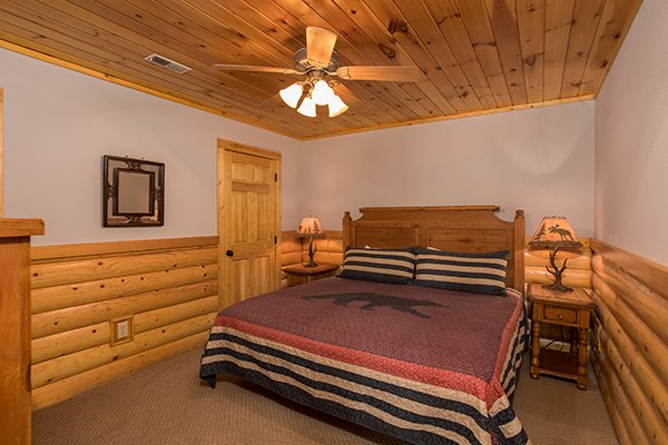 Basement bedroom at Endless View, a 4-bedroom cabin rental located in Pigeon Forge