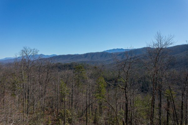 Mountain views at Gonzo's Outpost, a 3-bedroom cabin rental located in Pigeon Forge