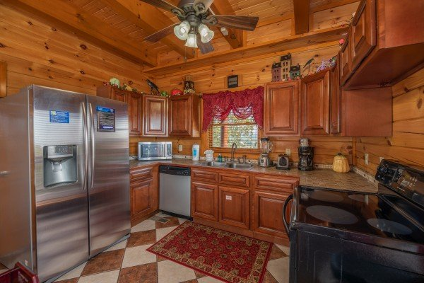 Kitchen at Galaxy Splash, a 3 bedroom cabin rental located in Sevierville