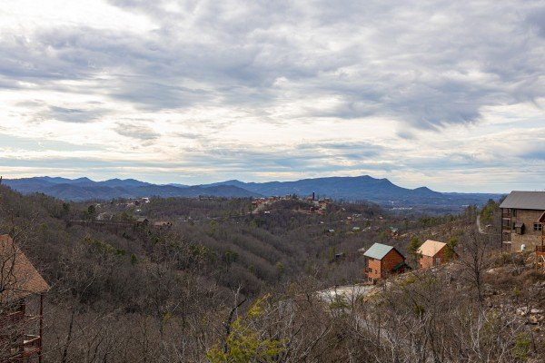 Mountain view at Smoky Mountain High, a 1 bedroom cabin rental located in Pigeon Forge