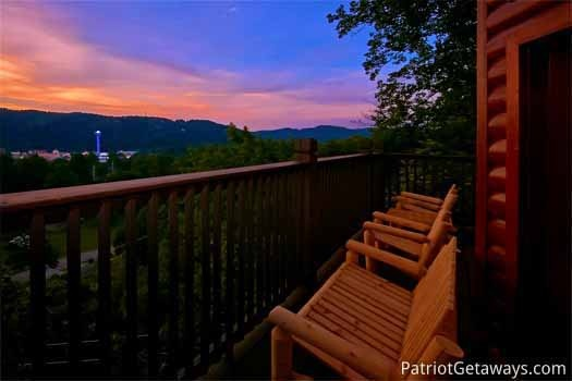 evening view of gatlinburg and the smoky mountains at night lights lodge a 7 bedroom cabin rental located in gatlinburg