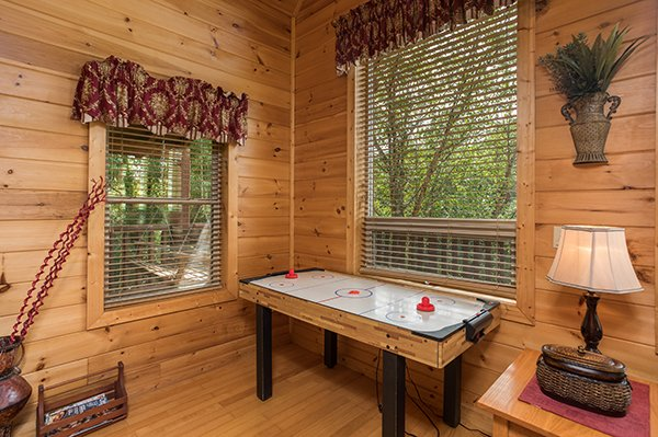Air hockey table at Longwalker Lodge, a 3 bedroom cabin rental located in Pigeon Forge